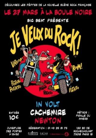 je veux du rock le 27 mars la boule noire rock made in france actu en bref rock. Black Bedroom Furniture Sets. Home Design Ideas