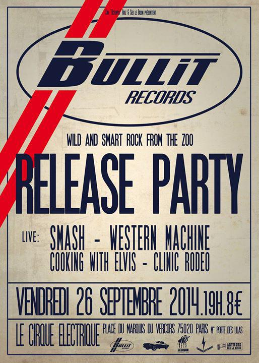 bullit records affiche