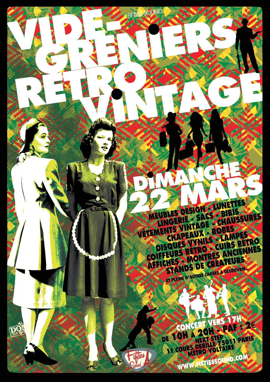 vide grenier retro vintage Paris 11